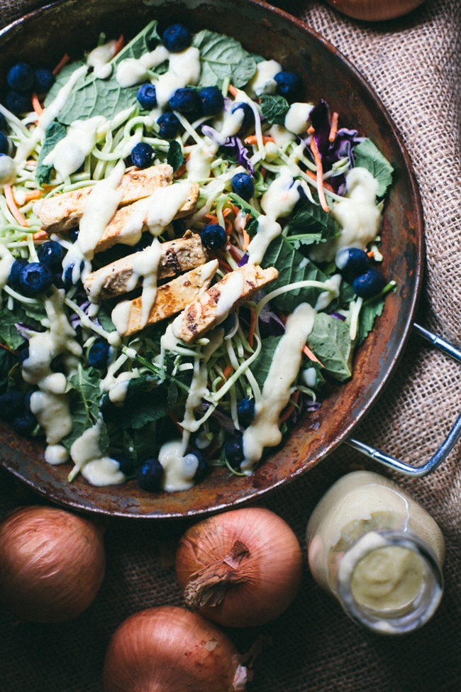 salad with sweet onion dressing