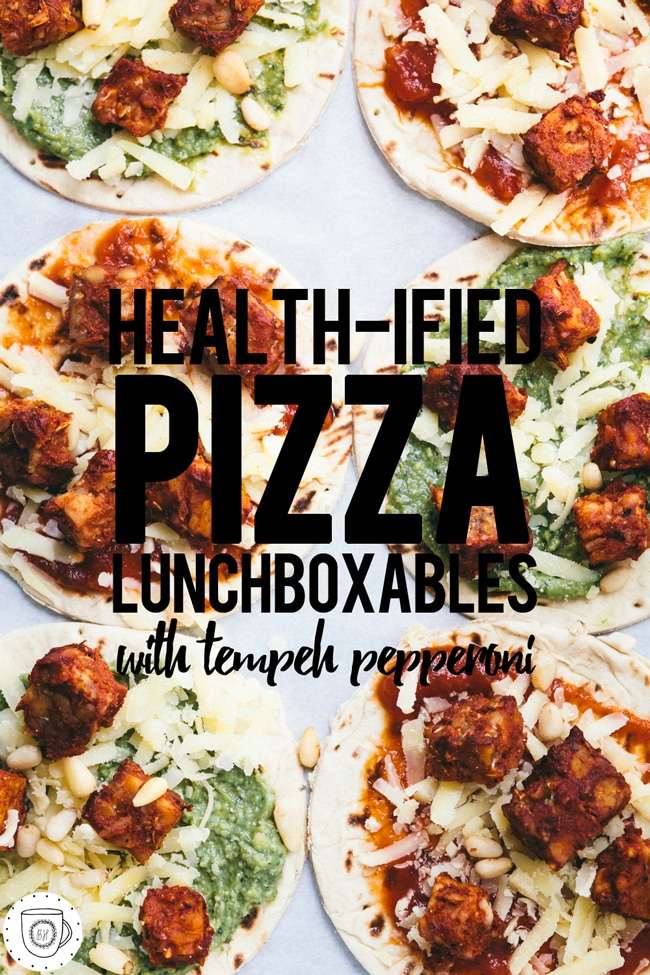 easy lunch pizza made with Flatout Bread