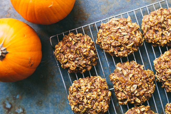 Pumpkin Ginger Breakfast Cookies | #virtualpumpkinparty