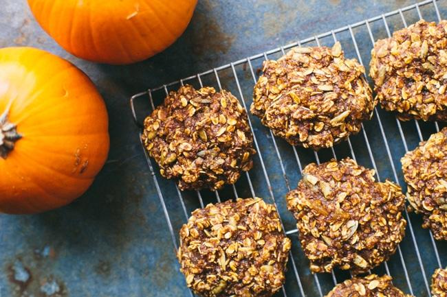 Pumpkin Ginger Breakfast Cookies   #virtualpumpkinparty