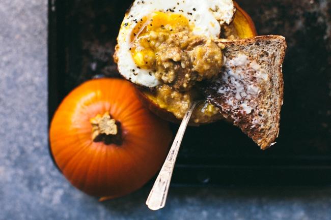 Savory Pumpkin Grits Breakfast Bowl   Brewing Happiness
