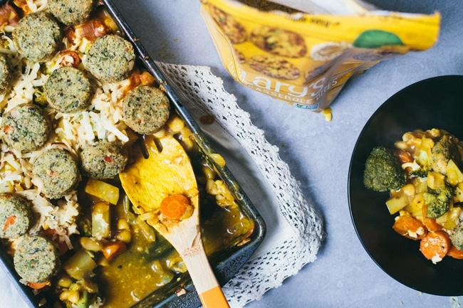 Vegetarian Pot Pie Casserole with Broccoli Casserole Bites
