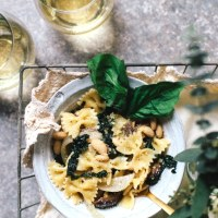 White Bean and Kale White Wine Pasta   Brewing Happiness