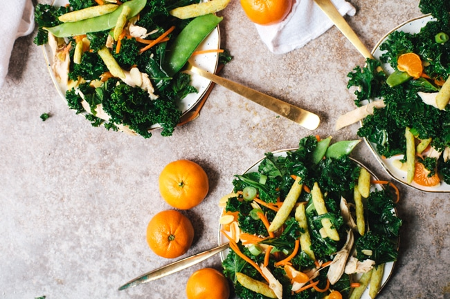 Healthy Chinese Chicken Kale Salad