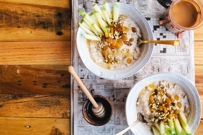 Golden Raisin Buckwheat Breakfast Porridge