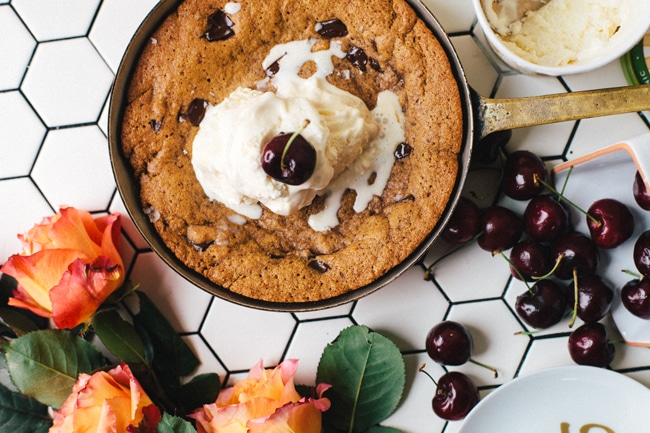 Healthy-ish Skillet Cookie for Two