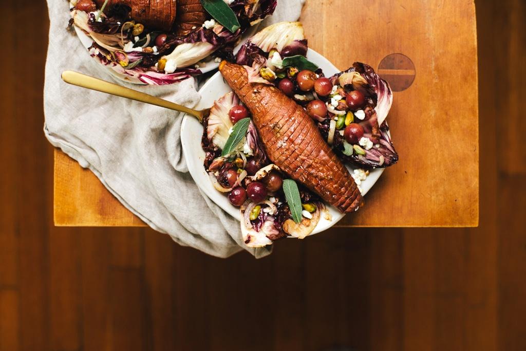 Sweet Potato Sheet Pan Dinner Salad   Brewing Happiness