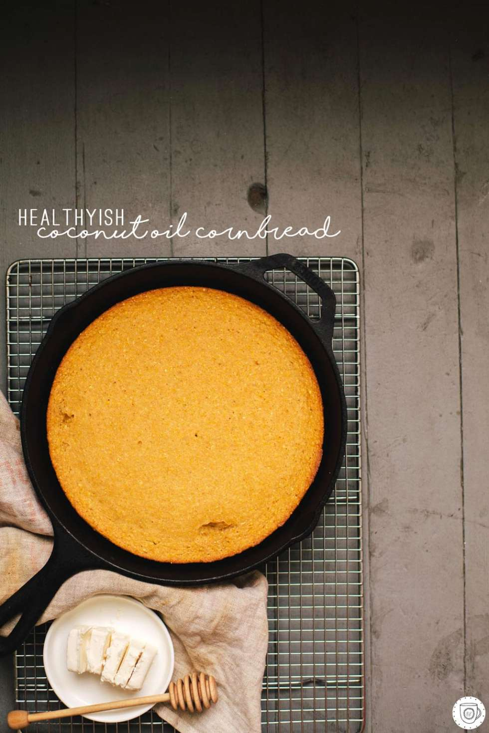 Healthyish Coconut Oil Cornbread | Brewing Happiness