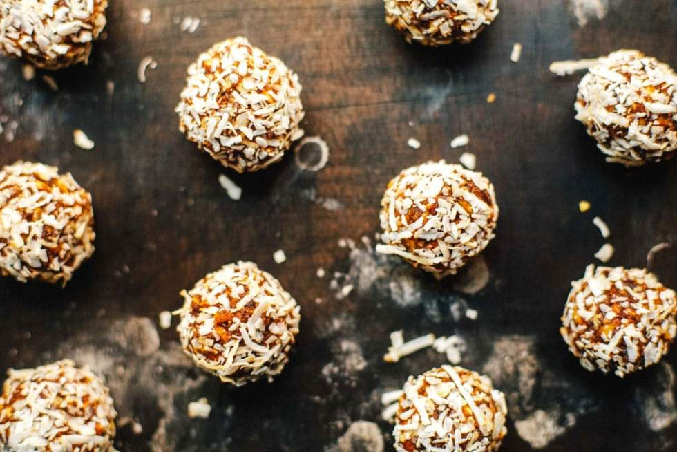 Dried Fruit and Nut Dessert Balls (Ladoos) + Vibrant India Cookbook | Brewing Happiness