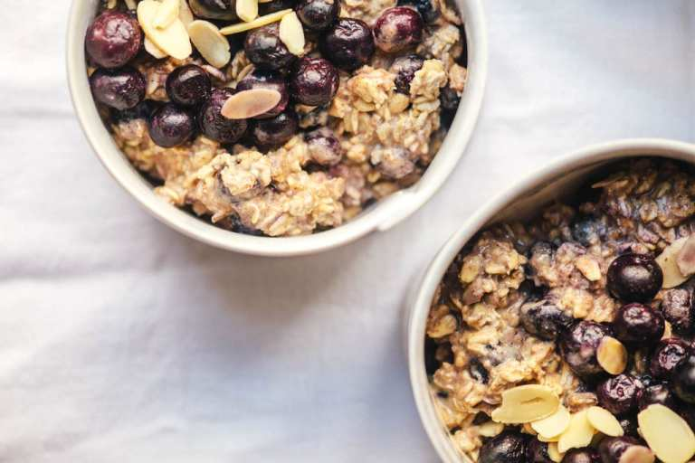 Blueberry Almond Overnight Oats   Brewing Happiness
