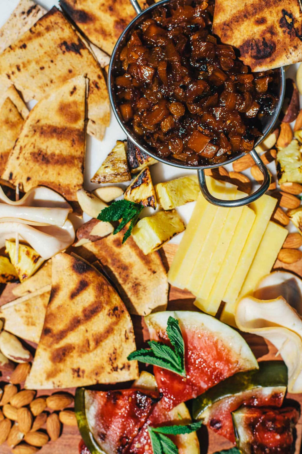 Summer Fruit & Cheese Board with Grilled Mango Chutney   Brewing Happiness