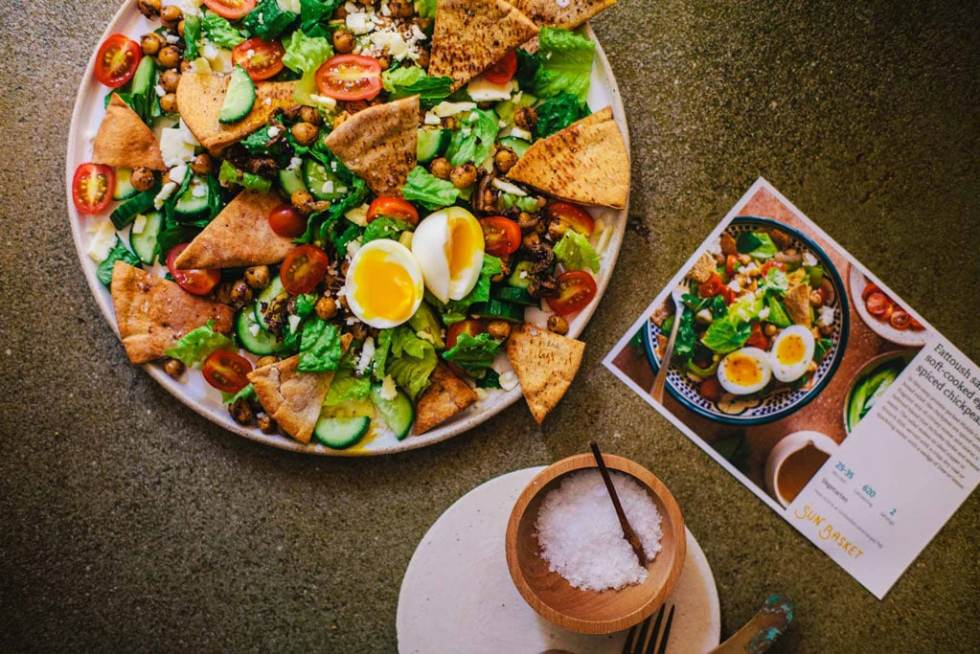 Fattoush Salad + One Day with Sun Basket | Brewing Happiness