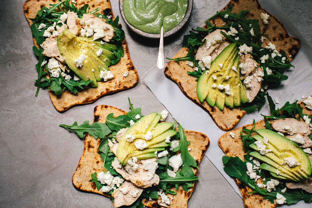 Easy Chicken Green Goddess Wrap | Brewing Happiness
