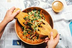 5 Minute Asian Rainbow Salad | Brewing Happiness