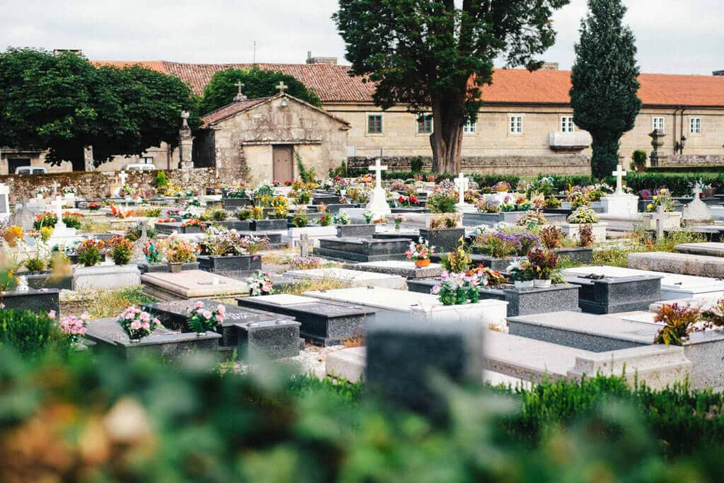 a wideshot of a Spanish cemetery