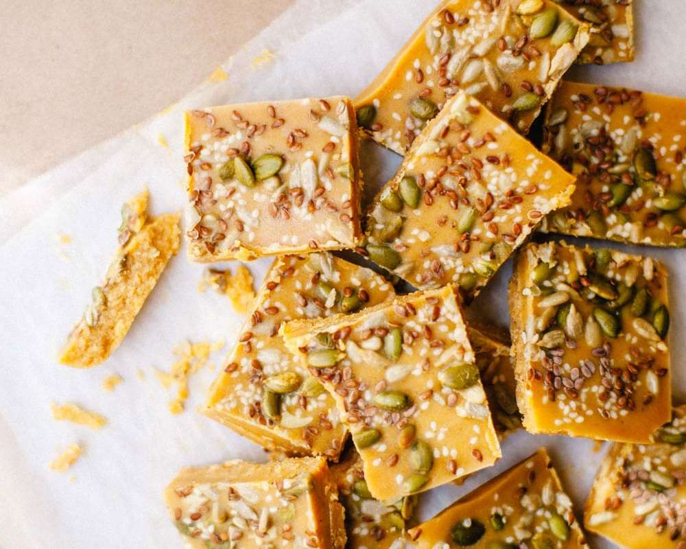 Hormone Balancing Healthy Pumpkin Bark | Brewing Happiness