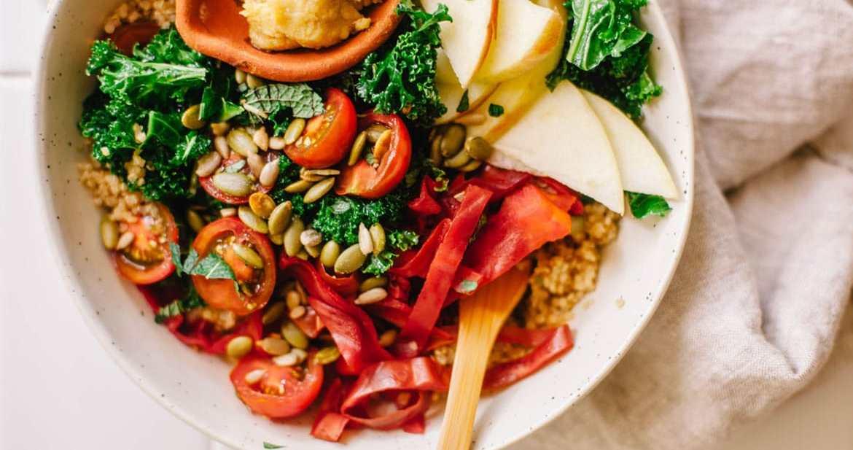 Autumn Harvest Quinoa Bowl #vegan | Brewing Happiness
