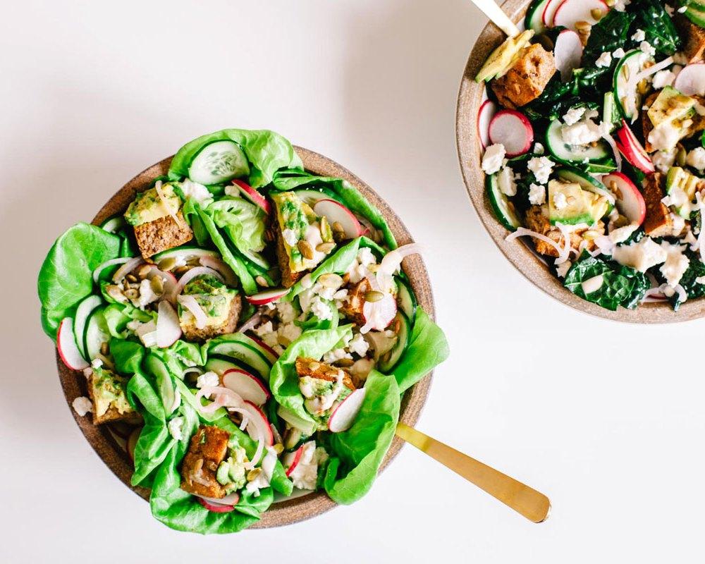 Avocado Toast Salad | Brewing Happiness