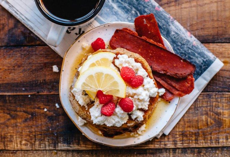 Whole-Wheat Lemon Chia Ricotta Pancakes   Brewing Happiness