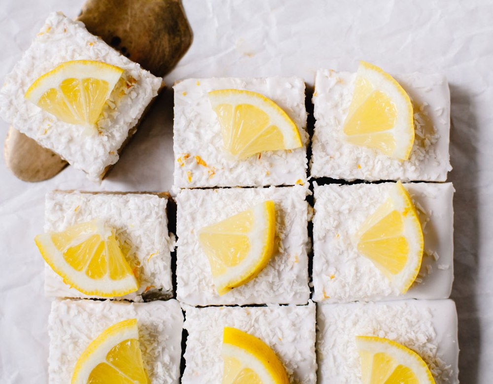Healthier Lemon Bars   Brewing Happiness