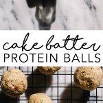 Cake Batter Protein Balls #nobake #proteinballs #fatballs #vegan | Brewing Happiness