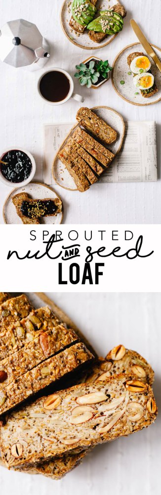 Sprouted Nut and Seed Loaf #vegan #sprouted #bread #healthy #glutenfree   Brewing Happiness