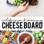 This California Dreaming Cheese Board from the Platters and Boards Cookbook with tons of fresh Cali-based goods is perfect for your next beach day or party!