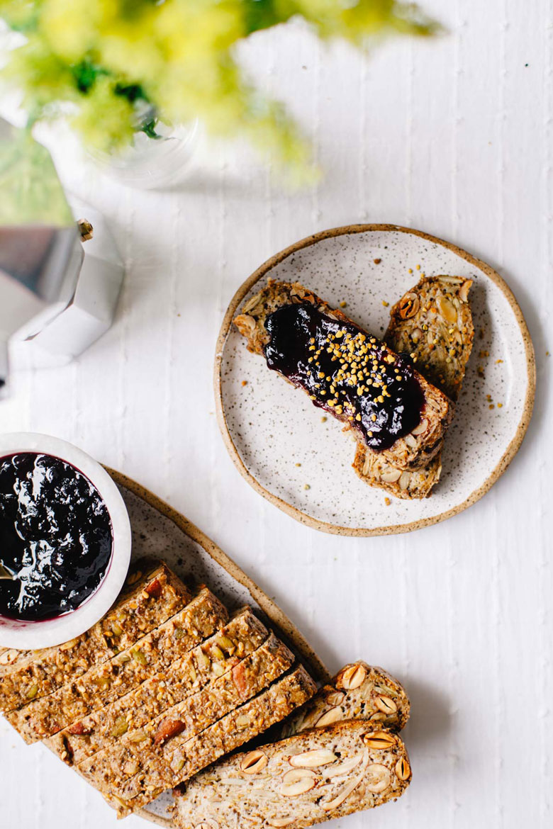Nut & Seed Loaf with jam