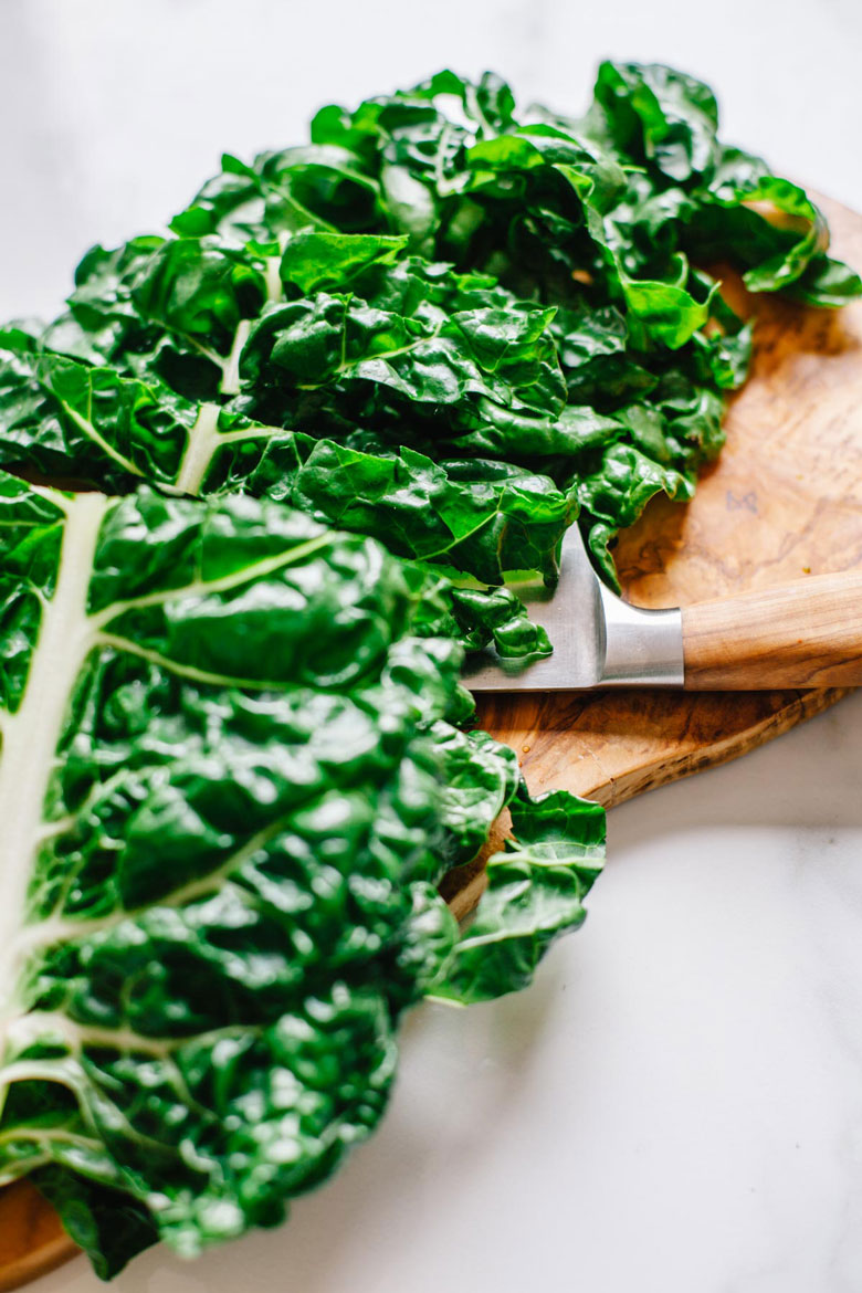 chopped green chard