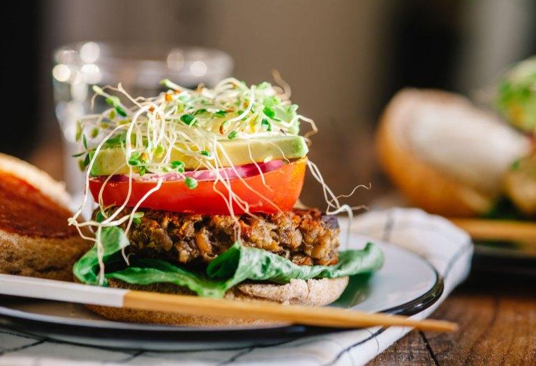 Mushroom Chickpea Veggie Burgers