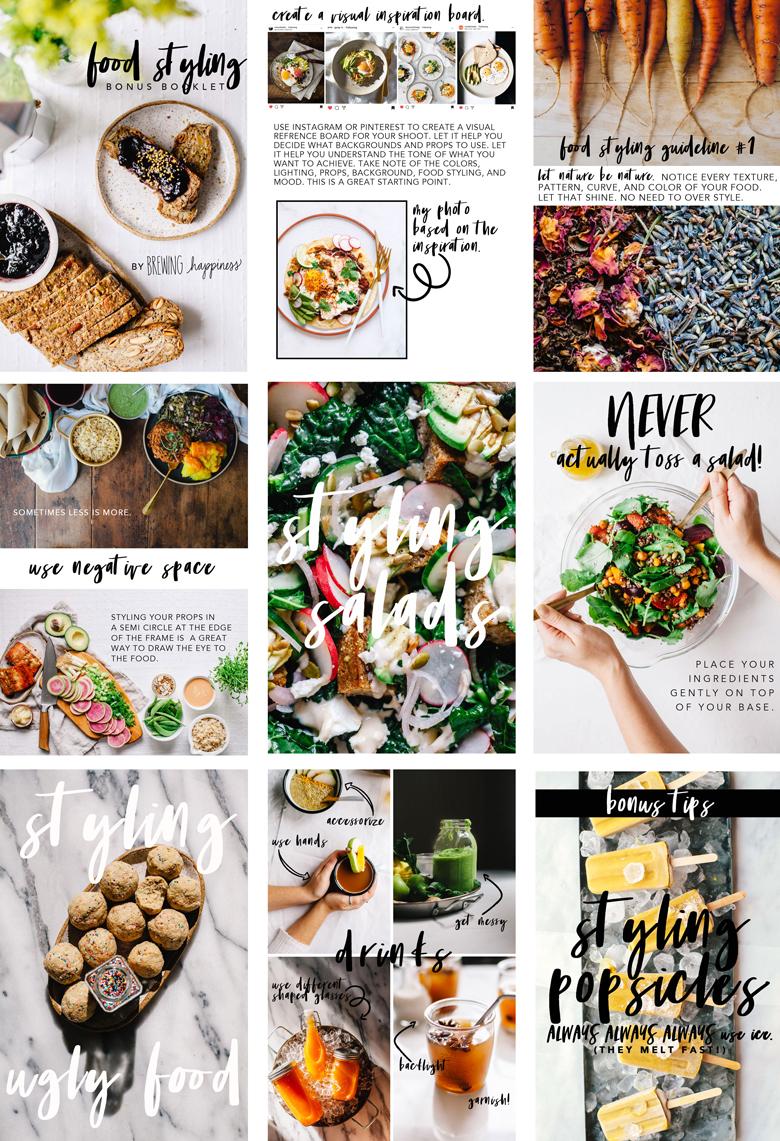 Food Styling Bonus Booklet Sneak Peek