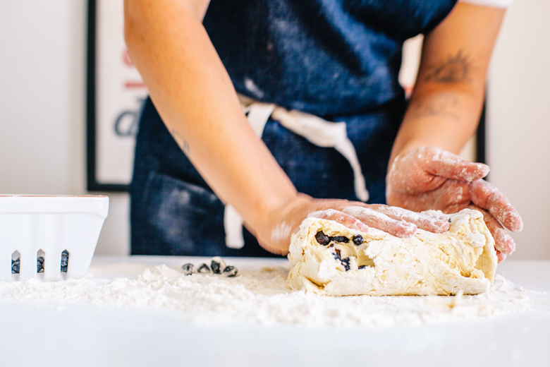 rolling biscuit dough