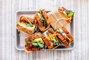 (BLT) Burrata Lettuce Tomato Chutney Sandwich | Brewing Happiness