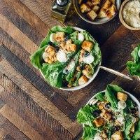Chickpea Caesar Salad | Brewing Happiness