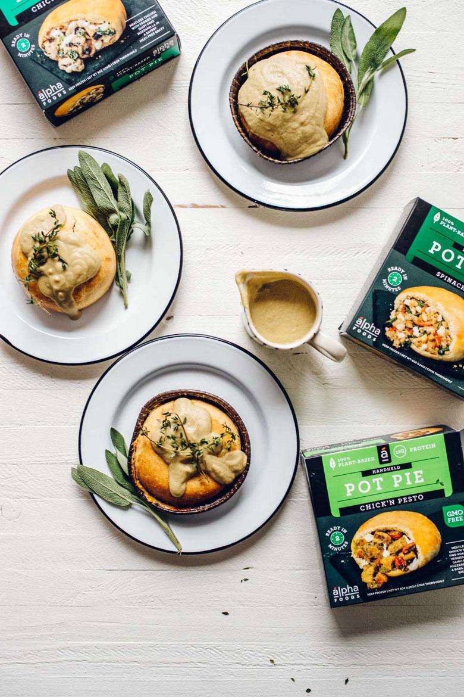 Alpha Foods Vegan Pot Pies with Blender Chickpea Gravy