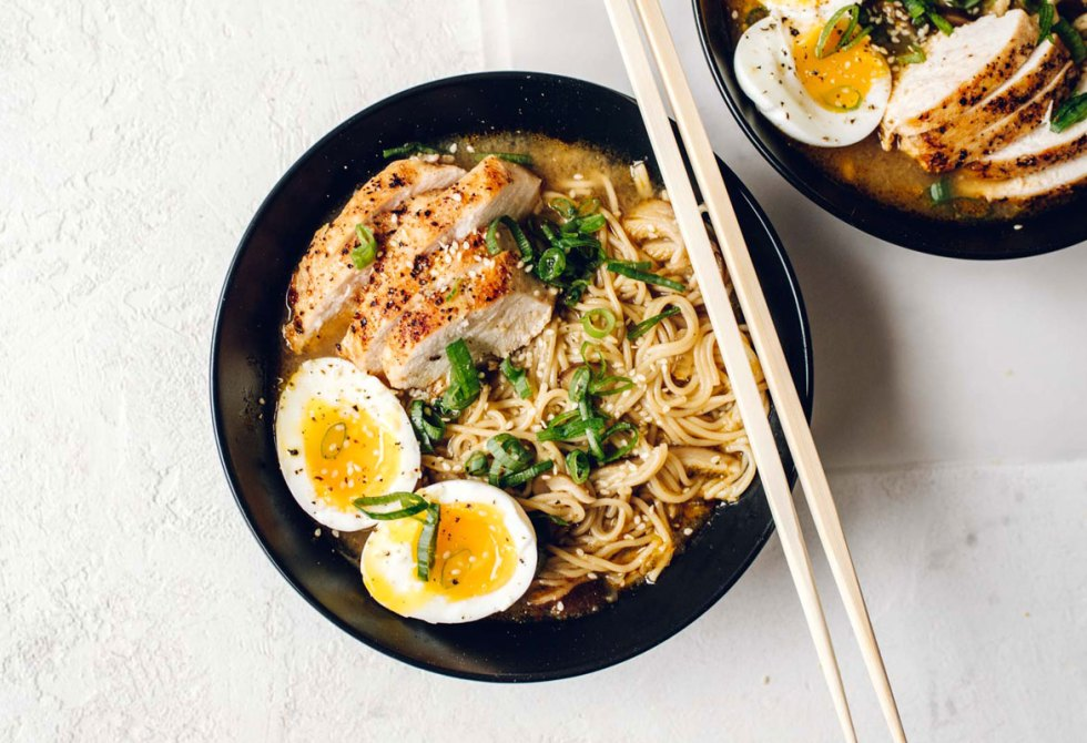 Spicy Maple Miso Chicken Ramen | Brewing Happiness