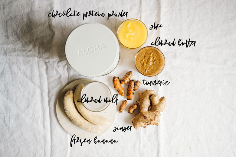 turmeric chocolate breakfast shake ingredients