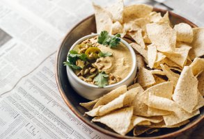 Sunflower Seed Queso Dip   Brewing Happiness