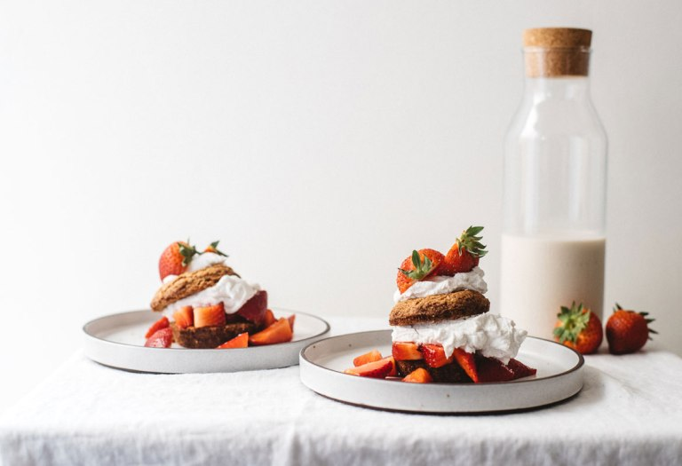 Grain-Free Strawberry Shortcake | Brewing Happiness