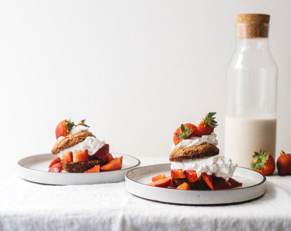 Grain-Free Strawberry Shortcake | Brewing Happiness