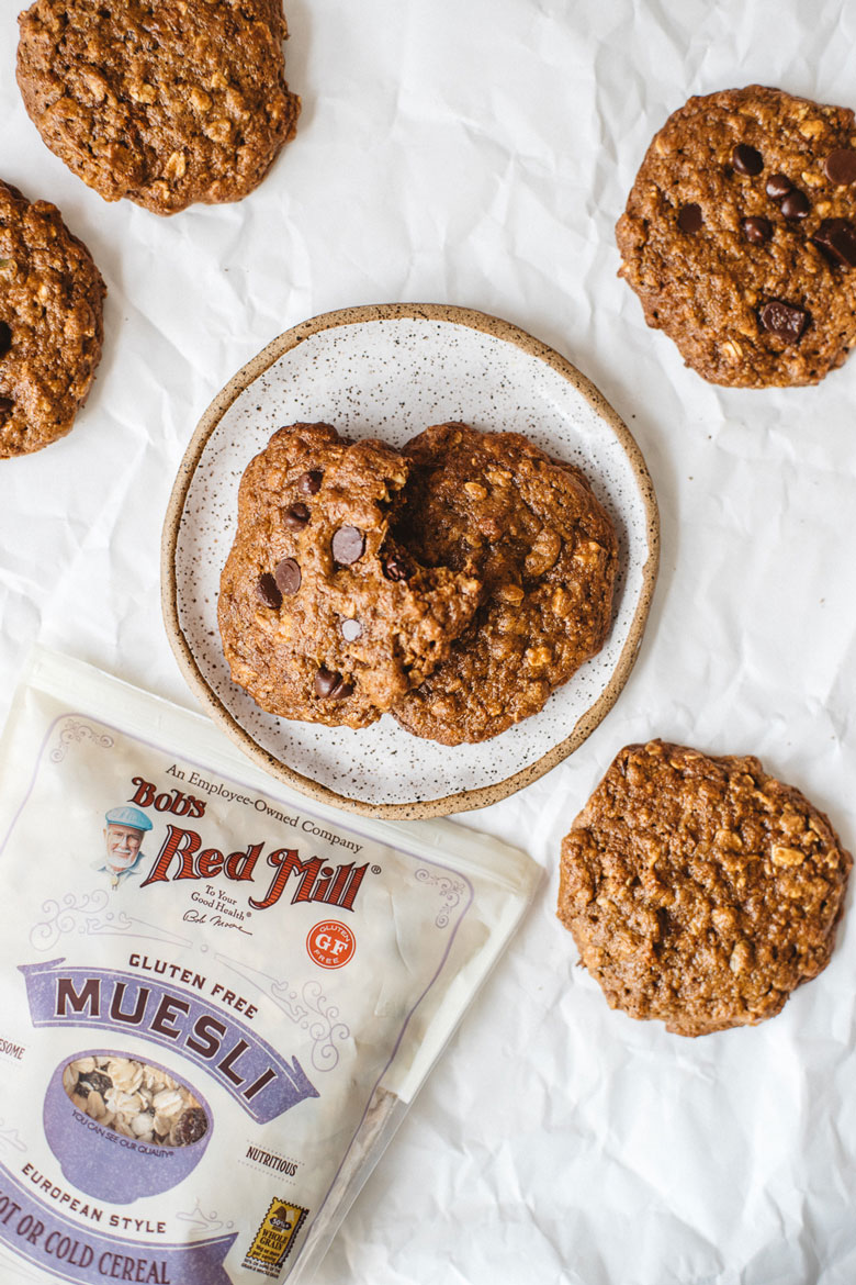 kitchen sink cookies made with Bob's Red Mill muesli
