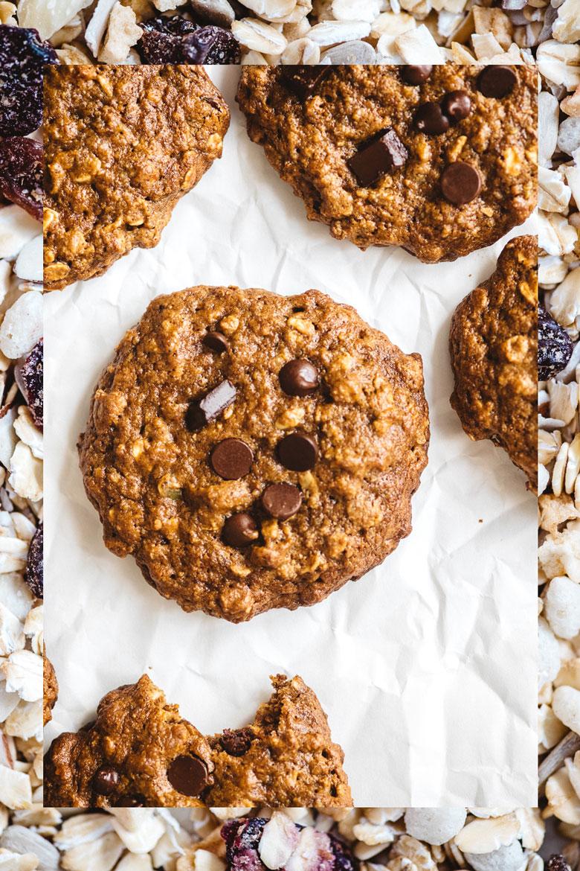 Muesli Kitchen Sink Cookies | Brewing Happiness