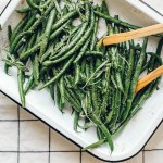 Tarragon Mustard Green Beans | Brewing Happiness