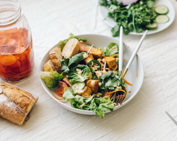 Tofu Banh Mi Salad | Brewing Happiness