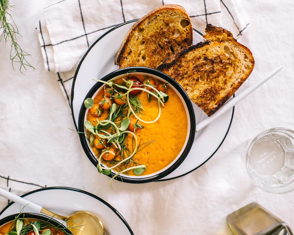 Creamy Tomato Fennel Soup   Brewing Happiness