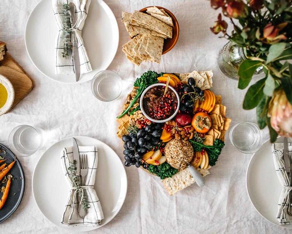 Holiday Vegan Cheese Ball Platter | Brewing Happiness