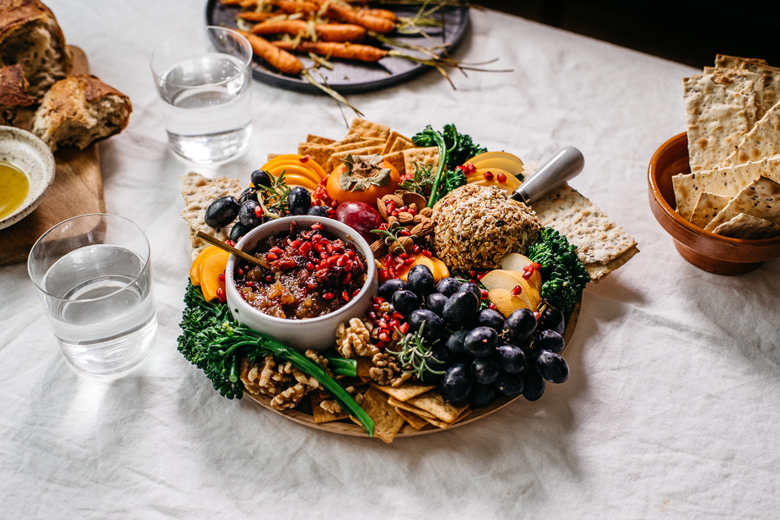 vegan cheese ball platter