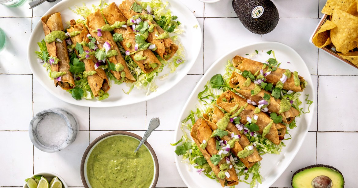 Healthy Avocado Chicken Taquitos