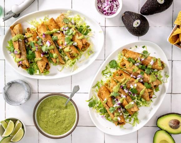 Healthy Avocado Chicken Taquitos
