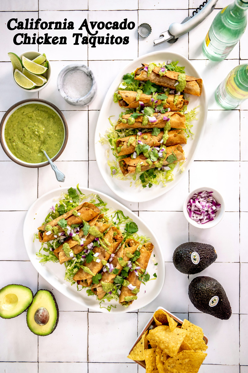 California Avocado Chicken Taquitos